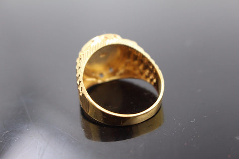"22k 22ct Solid Gold ELEGANT Charm Mens Ring SIZE 8.5 ""RESIZABLE"" r9998"