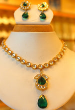 22k 22ct Solid Gold Elegant Traditional Kundan Set Necklace with STONE KS120