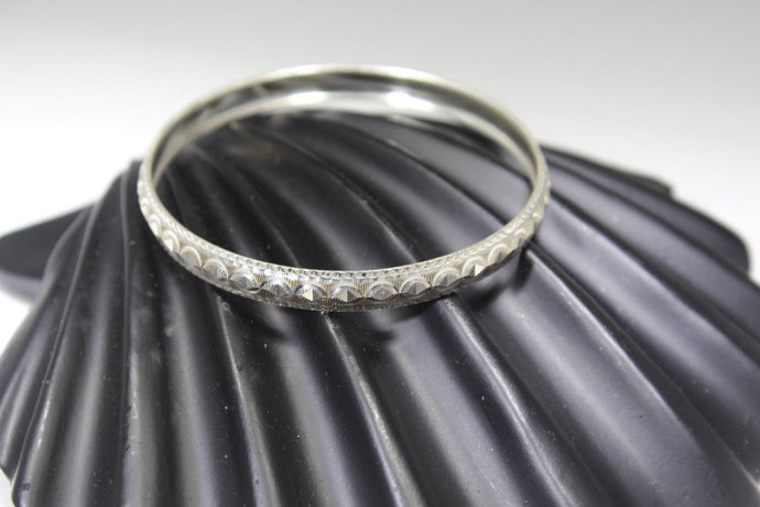 1PC HANDMADE women b84 Solid Sterling Silver 925 size 2.25 inch kara Bangle Cuff