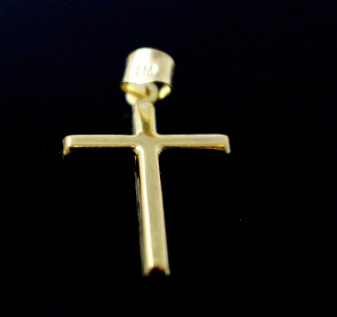 22k 22ct Solid Gold Christian Cross Pendant Charm Locket mf