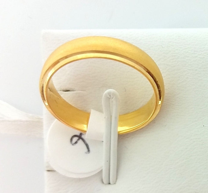 22k Solid Gold Ring Size 7.75 custom size available with unique box 316 | Royal Dubai Jewellers