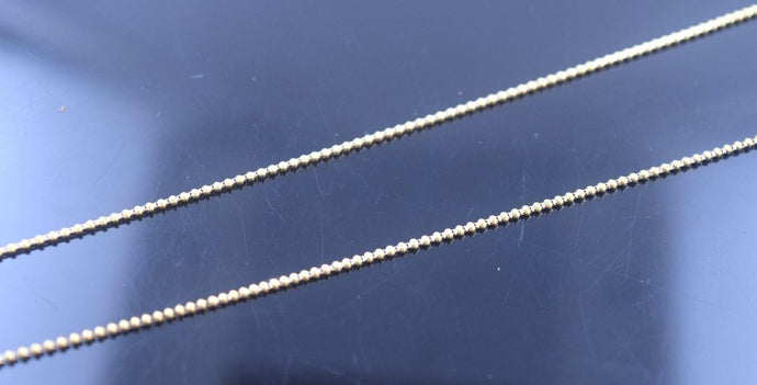 22k 22ct Yellow Solid Gold LIGHT TINY BALL DESIGN Chain Necklace 18