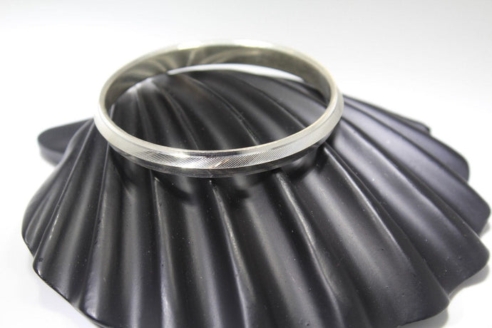 1PC HANDMADE Men b3 Solid Sterling Silver 925 size 2.5 inch kara Bangle Cuff