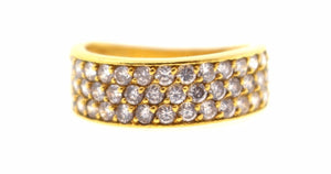 "22k 22ct Solid Gold ELEGANT ZIRCONIA Ring BAND SIZE 6.0 ""RESIZABLE"" R1135"
