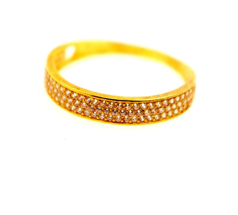 "22k 22ct Solid Gold DIAMOND CUT LADIES RING SIZE 7.0' RESIZABLE"" R1628"