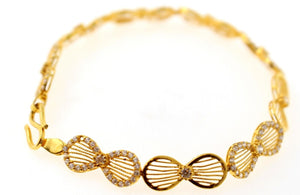 22k Gold ELEGANT DESIGNER ITALIAN LADIES GIRLS BRACELET B896 | Royal Dubai Jewellers