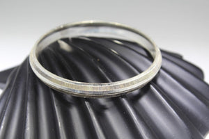 1PC HANDMADE men b119 Solid Sterling Silver 925 size 2.75 inch kara Bangle