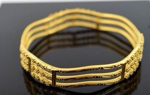 CUSTOM Handmade 22K SOLID GOLD BANGLE BRACELETS BRACELET Cuff pick your size | Royal Dubai Jewellers