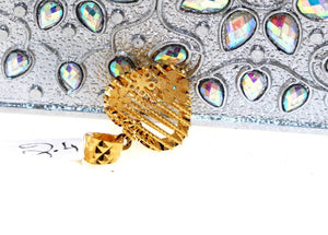 22k 22ct Solid Gold GORGEOUS romantic 3D heart SHAPE Pendant Locket p857