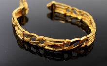 22k 22ct Solid Gold ELEGANT MEN DESIGNER WIDER BROAD BRACELET B876