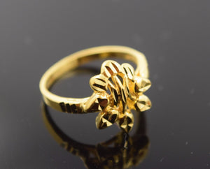"22k 22ct Solid Gold ELEGANT BABY KIDS Ring ""RESIZABLE"" size 2 r487"