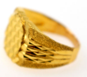 "22k 22ct Solid Gold ELEGANT Mens Designer Ring SIZE 7.0 ""RESIZABLE"" r1595"