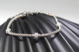 1PC HANDMADE cj27 Solid Sterling Silver 925 women modern charm style braclet | Royal Dubai Jewellers