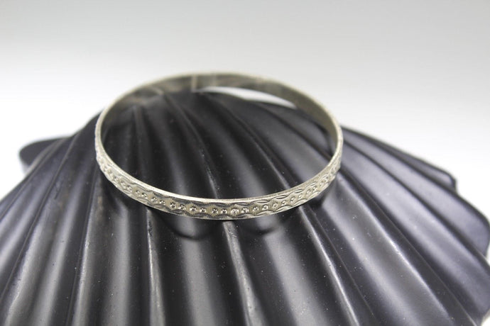 1PC HANDMADE women b80 Solid Sterling Silver 925 size 2.25 inch kara Bangle Cuff