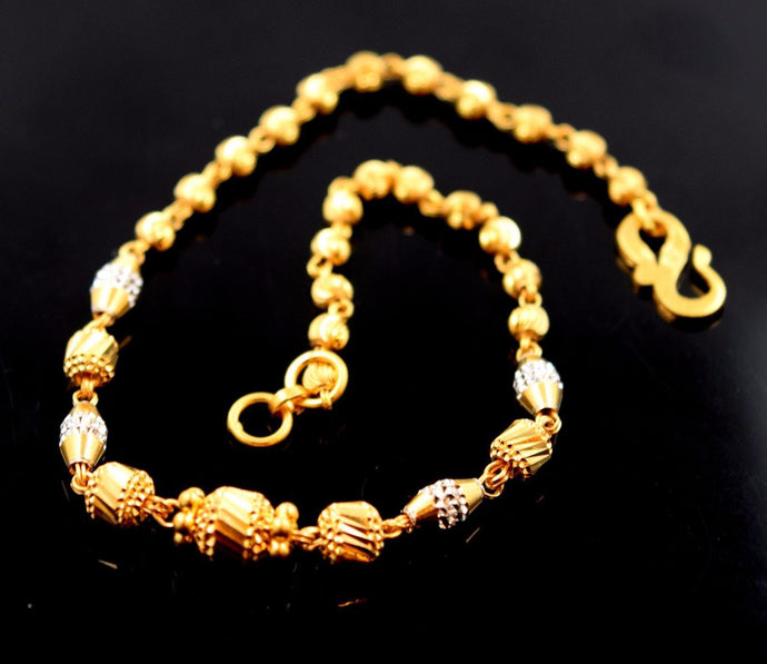 22k Jewelry Solid Gold Fancy Lavish Bracelet 7