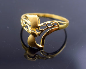 "22k 22ct Solid Gold ELEGANT Ring with Box ""RESIZABLE"" R425"