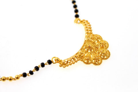 22k Gold Solid Yellow Elegant Chain Mangalsutra CHAIN Length 18 inch c924 | Royal Dubai Jewellers
