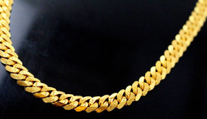 22k Yellow Solid Gold Chain Necklace Heavy Curb Design Length 22 inch c880