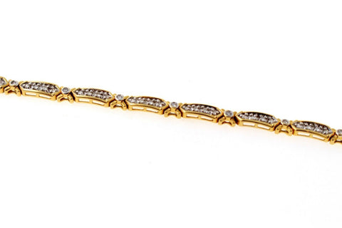 Solid Gold DIAMOND Bracelet Simple Design Length 7.5 Inch B864