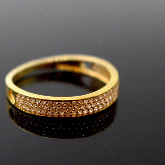 22k 22ct Solid Gold DIAMOND CUT LADIES RING SIZE 7.0' RESIZABLE