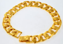 22k Jewelry Solid Gold HEAVY CONCAVE CURB LINK BRACELET SHINNY 8.2inch B586 | Royal Dubai Jewellers