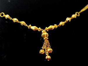 22k 22ct Chain Yellow Solid Gold Ball Necklace Chain c899 | Royal Dubai Jewellers