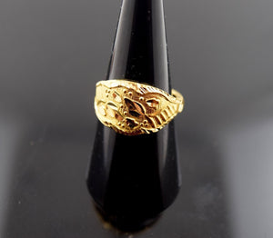 "22k 22ct Solid Gold ELEGANT STONE Ring with FREE BOX ""RESIZABLE"" R405 size 7.5"