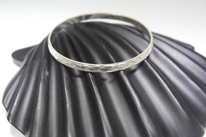 PC HANDMADE women b47 Solid Sterling Silver 925 size 2.5 inch kara Bangle Cuff
