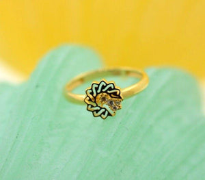 "22k 22ct Solid Gold CUTE STAR ELEGANT BABY KID Ring ""RESIZABLE"" size 4.2 r744"