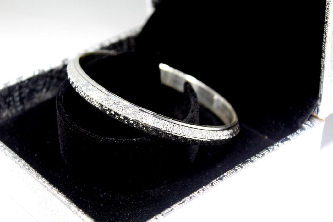 1PC HANDMADE women b106 Solid Sterling Silver 925 size 2.5 inch kara Bangle