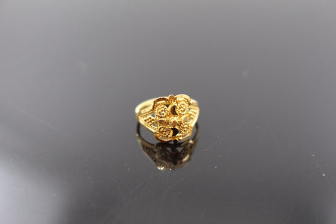 "22k 22ct Solid Gold ELEGANT Charm Baby Ring SIZE 1 "" RESIZABLE"" r1110"