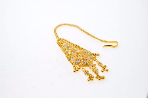 22k 22ct Yellow SOLID Gold TRADITIONAL DESIGN MANG TIKKA BRIDAL FLOWER WOMAN T26