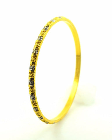 22k Solid Gold ELEGANT WOMEN BANGLE BRACELET Size 2.5 inch B308 Antique Design