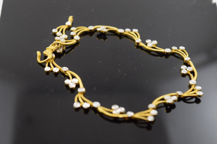 22k 22ct Solid Gold ELEGANT Bracelet with box length 8 inch Cb221