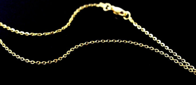 22k 22ct Yellow Solid Gold GORGEOUS THIN CABLE LINK CHAIN NECKLACE c920