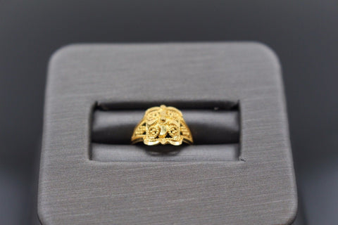"22k 22ct Solid Gold ELEGANT Charm Baby Ring SIZE 1 "" RESIZABLE"" r1110 