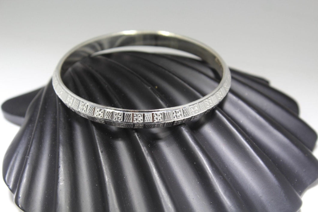 1PC HANDMADE women b111 Solid Sterling Silver 925 size 2.5 inch kara Bangle