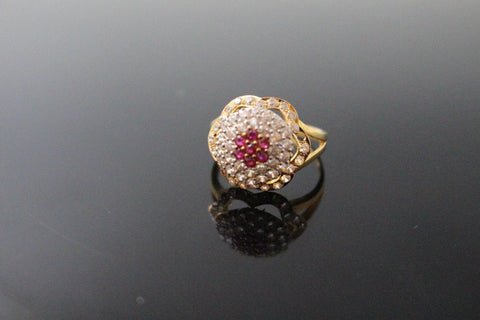 "22k 22ct Solid Gold ELEGANT Antique Ladies Stone Ring SIZE 6.5 ""RESIZABLE"" r1548"