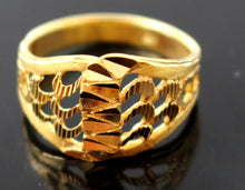 "22k 22ct Solid Gold ELEGANT HIGH POLISH Ring BAND ""RESIZABLE"" R1149"