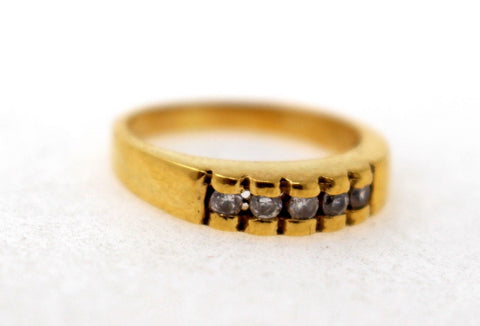 "22k 22ct Solid Gold ELEGANT STONE Ring ""RESIZABLE"" size 5 R1239"