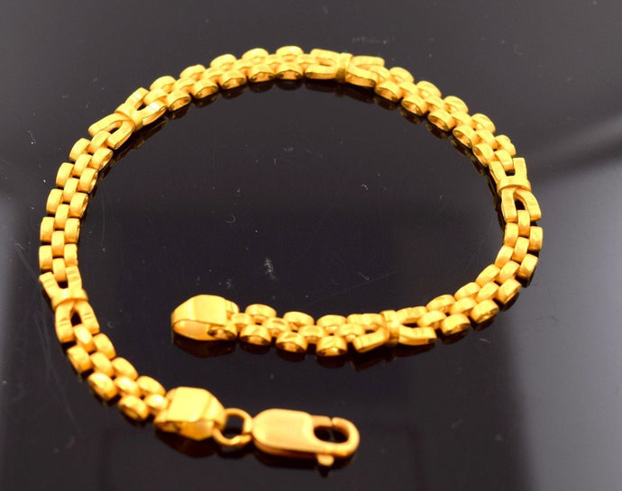 22k 22ct Solid Gold TRADITIONAL DESIGN MENS BRACELET LENGHT 8.3in B581