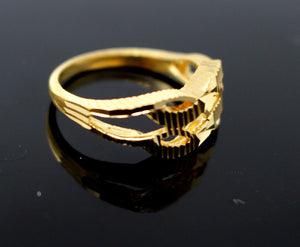 "22k Solid Gold DESIGNER DIAMOND CUT LADIES RING SIZE 6.75 ""RESIZABLE"" R1609"