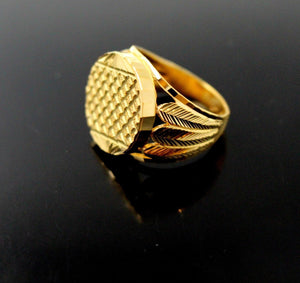 22k 22ct Solid Gold ELEGANT MENS RING BAND Size 10.0 RESIZABLE R1365 | Royal Dubai Jewellers