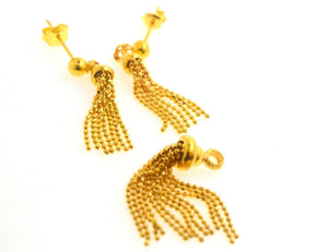 22k 22ct Solid Gold ELEGANT PENDANT SET EARRINGS HANGING with free box S86