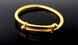 22k 22ct Solid Gold ELEGANT BABY KID BANGLE BRACELET ADJUSTABLE cb1144