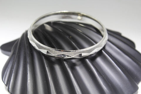 1PC HANDMADE women b112 Solid Sterling Silver 925 size 2.5 inch kara Bangle
