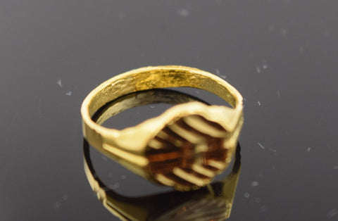 "22k 22ct Solid Gold ELEGANT BABY KIDS Ring ""RESIZABLE"" size 3 r490"