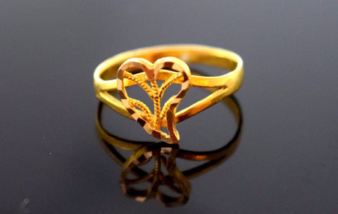 22k 22ct Solid GOLD BABY KID Ring BAND size 0.9 r782 | Royal Dubai Jewellers