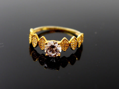 "22k 22ct Solid Gold DIAMOND CUT LADIES RING SIZE 7.5' RESIZABLE"" R1632 