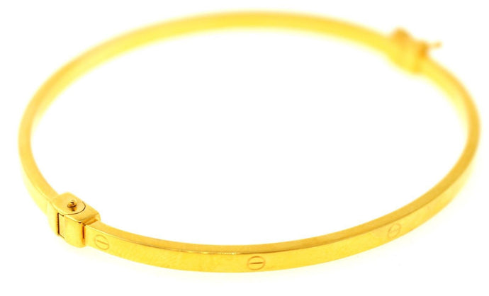 21k 21ct Solid Gold ELEGANT Ladies Designer BANGLE Modern Design b856 - Royal Dubai Jewellers